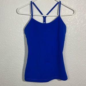 Lululemon Power Y Tank Blue Size 6